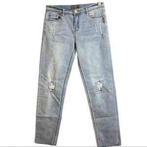Silver Jeans Cara Light Wash Distressed Raw Hems